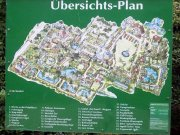 plánek ptačího parku ve Walsrode